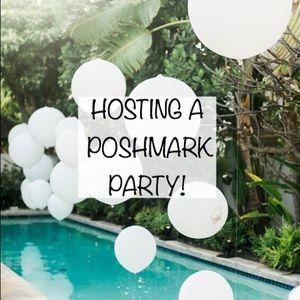 HOSTING A POSHMARK PARTY 🎈